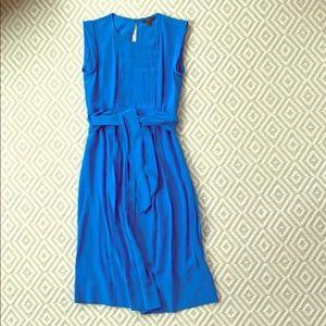 J Crew blue silk dress